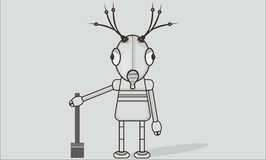Robot girl. Character or avatar robot  simple bacground Stock Photography