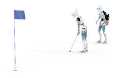 Robot Golfer Royalty Free Stock Photo