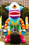 Robot in Grand Finale Parade. Standard Chartered Arts in the Park Mardi Gras is one of Hong Kong's largest and most vibrant annual community arts events Royalty Free Stock Image