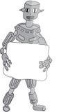 Robot grigio illustrazione vettoriale