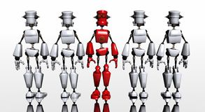 Robot group Royalty Free Stock Photos
