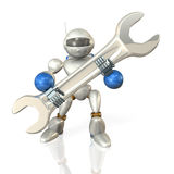 Robot had a wrench. Stock Photo