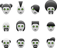Robot hair styles Stock Photography