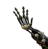 Robot Hand. An outreaching hand from a futuristic android Royalty Free Stock Photos