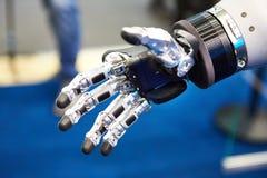 Robot hand closeup stock images