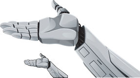 Robot hand demonstrating. Royalty Free Stock Photos