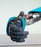 Robot hand gesture meaning okay Stock Images
