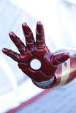 Robot hand. Open red robot hand closeup Stock Photos