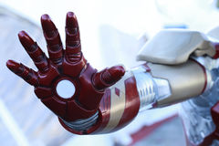 Robot hand. Open red robot hand closeup Royalty Free Stock Photography