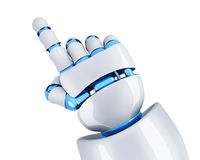Robot hand specify. Hand robot point the finger. 3d illustration Stock Photos