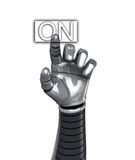 Robot Hand Switch On Royalty Free Stock Images