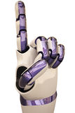 Robot hands. Counting robot hands. Isolated on white Stock Images