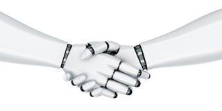 Robot handshake Stock Photography