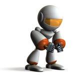 Robot has fallen into paranoia. Computer generated image Stock Photo