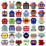 Robot Head Icons stock images
