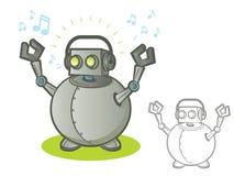 Robot with Headphones Stock Photography
