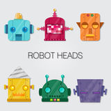 Robot Heads Stock Photography