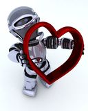 Robot with heart charm Stock Image