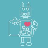 Robot with heart inside. Stock Images