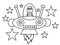 Robot high quality kids coloring pages Royalty Free Stock Photo