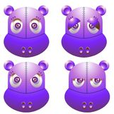 Robot hippo. Vector illustration for a robot hippo with emotion and expression Stock Image