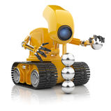 Robot hold sphere. Artificial intelligence royalty free illustration