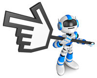 That  robot holding a cursor indicate Stock Images