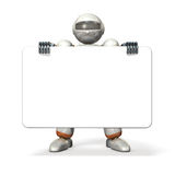 Robot holding a message board Royalty Free Stock Image