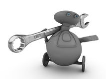 Robot Holding Wrench Stock Image