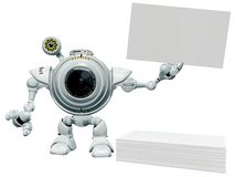 Robot Holding Your Sign Royalty Free Stock Photography