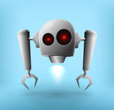 Robot hovering Royalty Free Stock Images