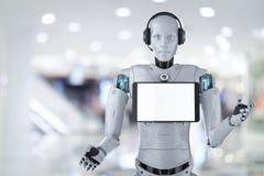 Robot hulpconcept stock illustratie