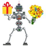 Robot Humanoid, dispositivo del ordenador electrónico ilustración del vector