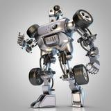 Robot hydraulique de voiture Photographie stock libre de droits