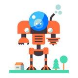 Robot i byn Arkivbilder