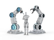 Robot i cyborg royalty ilustracja