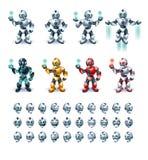 Robot i handling Royaltyfri Illustrationer