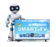 Robot i nowożytny mądrze TV Zdjęcia Royalty Free