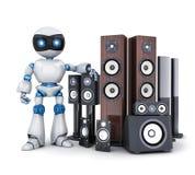 Robot i nowożytny rozsądny mówca Fotografia Royalty Free