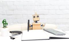 Robot i obieg sztuczna inteligencja obraz stock