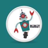 Robot icon design Stock Photography