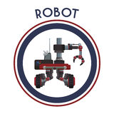 Robot icon design Stock Images