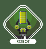 Robot icon design Royalty Free Stock Photography