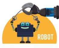 Robot icon design Royalty Free Stock Image