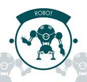 Robot icon design Stock Image