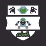 Robot icon design Stock Photo
