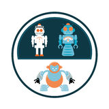 Robot icon design Royalty Free Stock Images