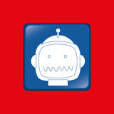 Robot icon design Royalty Free Stock Photos