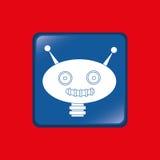 Robot icon design Royalty Free Stock Photography