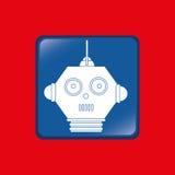 Robot icon design Royalty Free Stock Photo